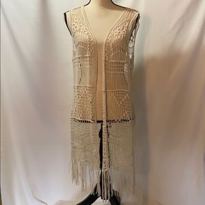 Pinky Brand Cream colored Duster Size L